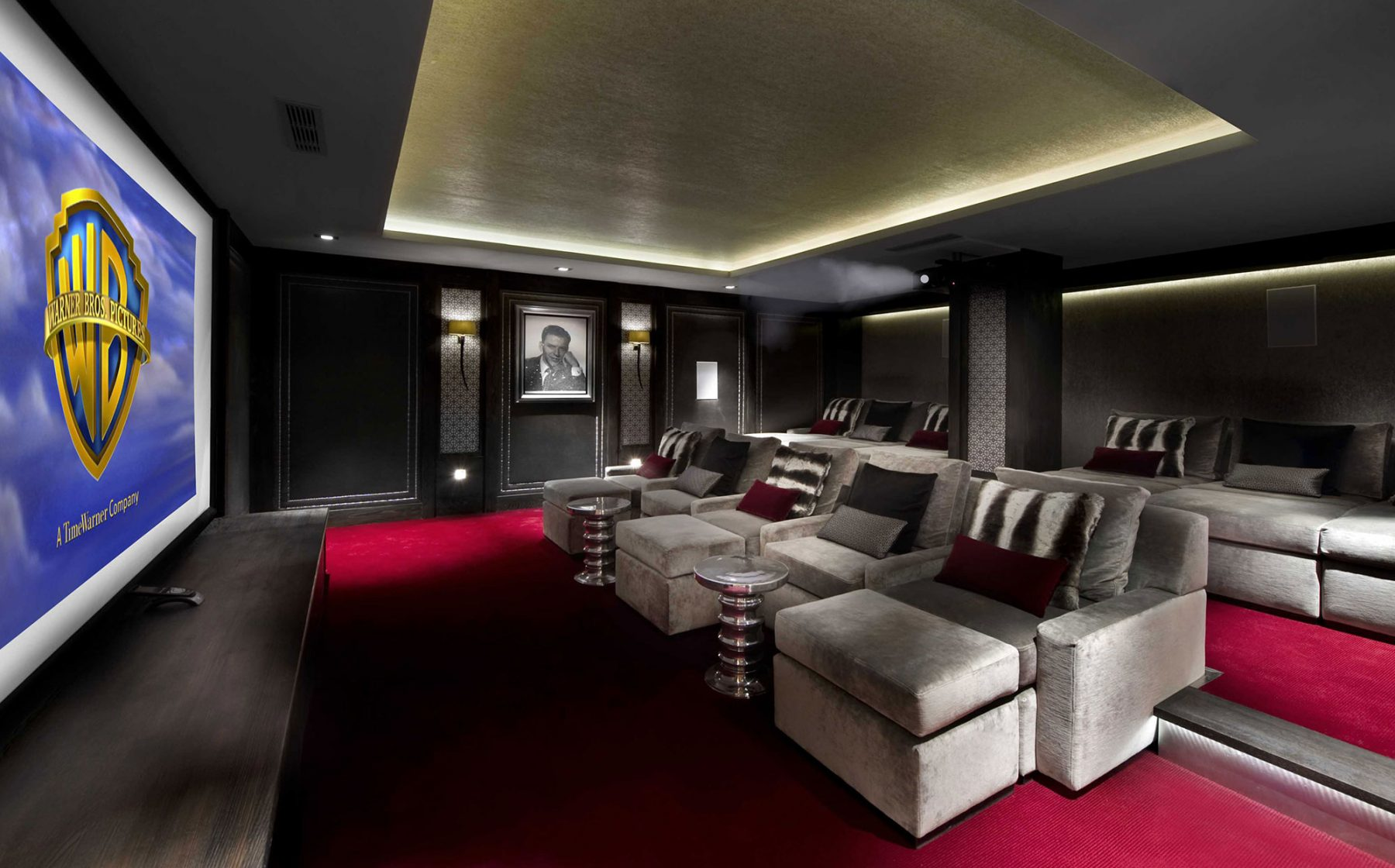 chalet le blanchot wilkinson beven our inspiration for this chalet home cinema room was provided by the glamorous and classic odeon theatre style luxurious bespoke furnishings set the tone