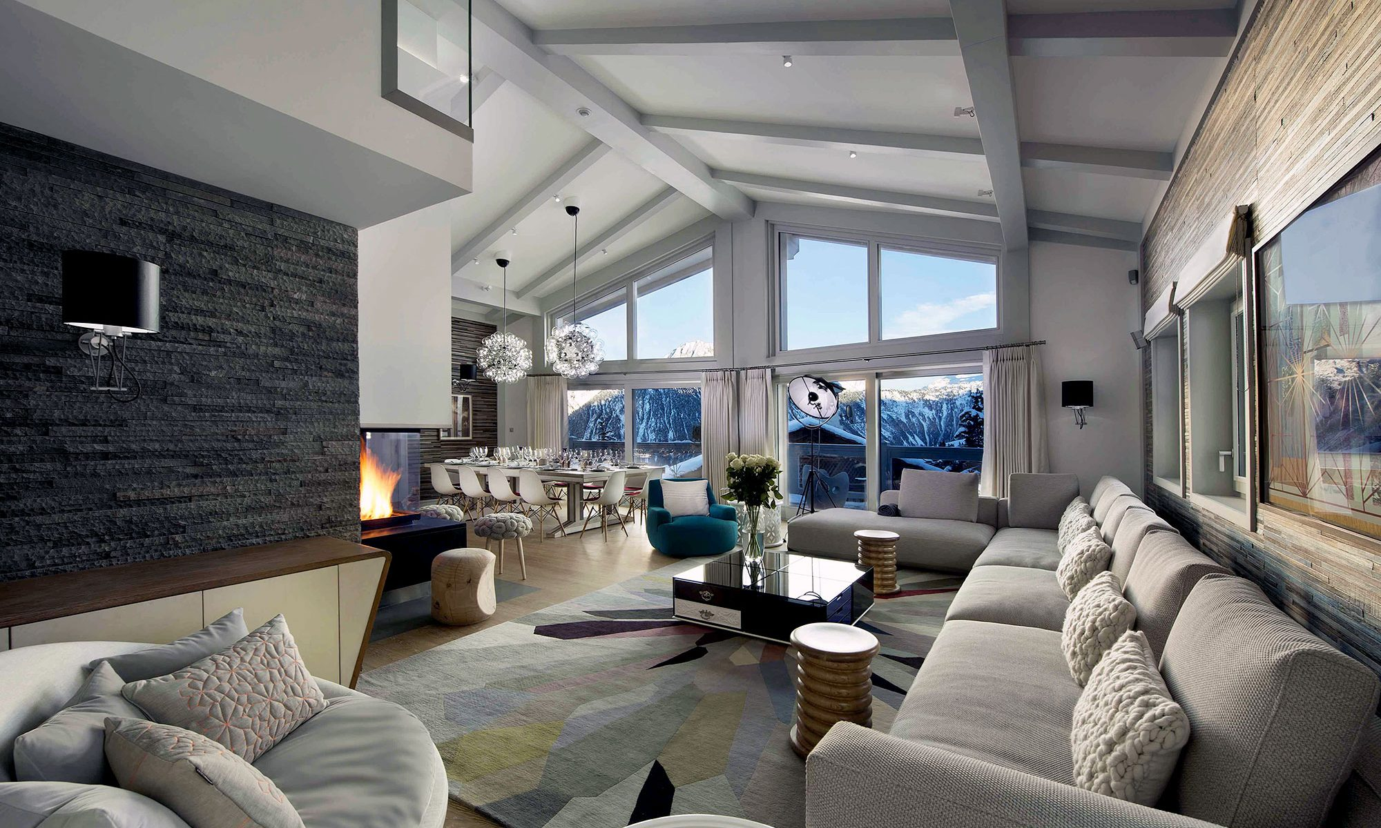 Ski Chalet Interior Design luxury ski chalet, pow pow, courchevel - wilkinson beven